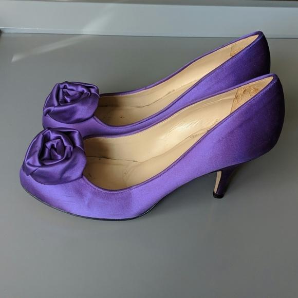 kate spade Shoes - KATE SPADE NEW YORK Satin Rosebud Pumps